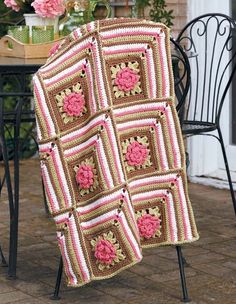 Take-Along Afghans - Take-Along Afghans presents 5 versatile and stylish crocheted afghans by designer Rena V. Stevens. Wonderfully warm and so thoughtful as gifts, each appealing throw is created in sections (as repeating motifs, squares and rectangles, or long panels) so that you can work on a part of your project wherever you go. The patterns are perfect for beginning to intermediate crocheters, and are such a pleasant way to fill extra minutes in the day!  Boucle Blocks is crocheted…
