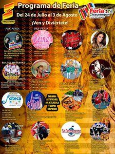 24 de julio: comienza la  Feria Chiautempan 2014