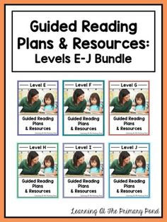 Guided reading lessons and books for levels E-J, comprehension and writing resources, phonological awareness activities, phonics games, decoding strategy visuals, lesson plan templates, assessment resources, and more! $