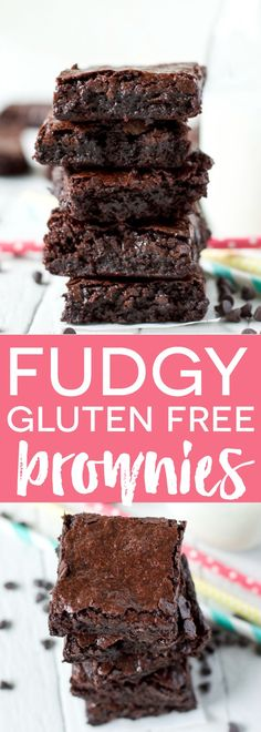 Gluten Free Recipes Super Fudgy Gluten Free Brownies (a Ghirardelli copycat recipe) from Sharon Gluten Free Deserts, Gluten Free Sweets, Gluten Free Cakes, Foods With Gluten, Gluten Free Cooking, Dairy Free Recipes, Chocolate Gluten Free Desserts, Vegan Gluten Free Brownies, Gluten Free Party Food