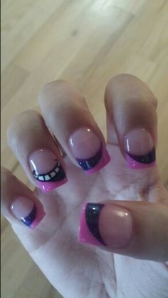 Nails disney alice in wonderland cheshire cat 68 New ideas Cheshire Cat Makeup, Cheshire Cat Costume, Chesire Cat, Aycrlic Nails, Cat Nails, Pink Nails, Nail Nail, Nude Nails, Manicures