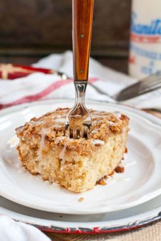 This Banana Crumb Cake is easy to make and wonderful for breakfast or dessert.