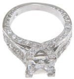 Sterling Silver Cubic Zirconia CZ Princess Cut Engagement Promise Ring Size 5 6 7 8 9 and 10 Princess Cut Engagement, Engagement Rings, Cubic Zirconia Wedding Rings, Promise Rings, 9 And 10, Wedding Anniversary, Sterling Silver, Crystals, Diamond