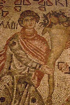 Fragment of a Floor Mosaic with a Personification of Ktisis Byzantine 500-550 CE (1)