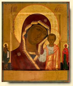 Virgin of Kazan - exhibited at the Temple Gallery, specialists in Russian icons