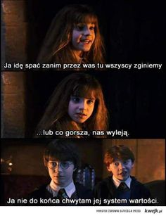 To jest już klasyk💓 Harry Potter Mems, Harry Potter Fandom, Polish Memes, Funny Mems, Harry Potter Universal, About Time Movie, Some Quotes, Wtf Funny, Best Memes