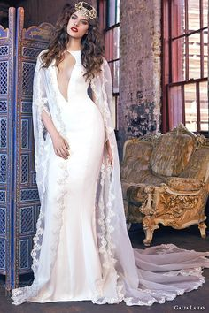 galia lahav spring 2016 bridal dresses jewel neckline keyhole front silk crepe sheath wedding dress wendy