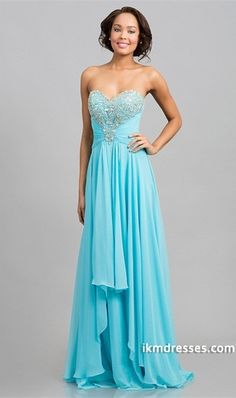 015 Sweetheart Tulle Back Chiffon Prom Dress A Line Pleated And Beaded Sweep Train http://www.ikmdresses.com/2014-Sweetheart-Tulle-Back-Chiffon-Prom-Dress-A-Line-Pleated-And-Beaded-Sweep-Train-p83994