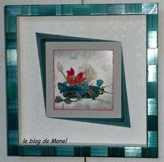 Les cadres de Manel / Himalaya perroquet ; baguette en marqueterie de paille