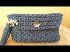 Cómo hacer un bolso de ganchillo con cuerda - How to make a crochet handbag - YouTube