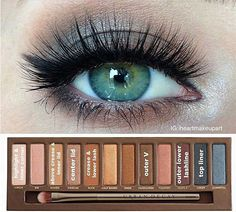 EAST Urban Decay Naked palette eyeshadow how-to looks (Green-eyed girls must see this!!)