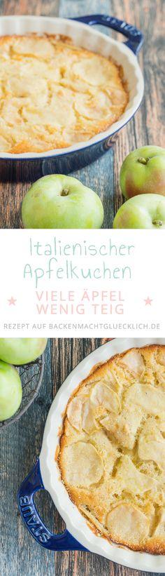 Torta die Mele ist ein fruchtiger, saftiger Apfelkuchen mit besonders viel Obst. Der italienische Apfelkuchen schmeckt sowohl lauwarm als auch kalt. Wer mag, gibt noch Gewürze und Rosinen dazu.
