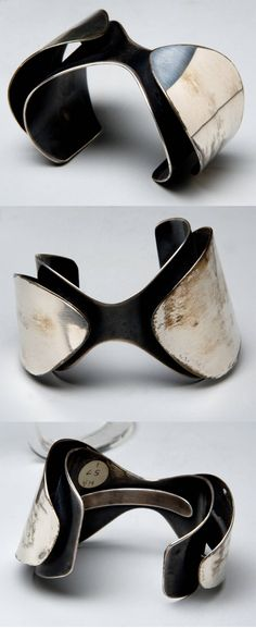 Cuff | Art Smith. Formed, polished and soldered silver. ca. 1956