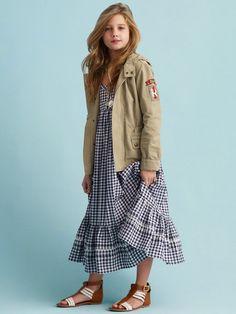 Gingham Maxidress - Dresses & Rompers   Girls 7–16 - RalphLauren.com