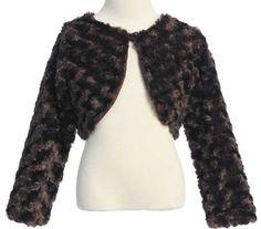 New Swirl Pattern Faux Fur Bolero Jacket Shrug « Clothing Impulse