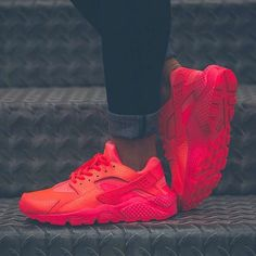 """Sneaker News on Instagram: """"Huarache on fire.    Get a detailed look at... ❤ liked on Polyvore featuring shoes, sneakers, nike sneakers, nike shoes, nike, nike footwear and nike trainers"""