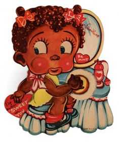 (Black Americana Valentine, date unknown   Category:Valentine's Day