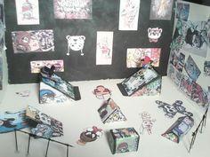 skate  maqueta de papel