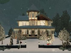 Christmas House by Via Sims - Sims 3 Downloads CC Caboodle