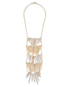 Kara Ross: Editorial with Stick and Bars of Cast Sticks (4 Tiers), Gold with White Jasper