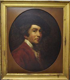 """WILLIAM ETTY """"""""Estudo sobre auto-retrato de Joshua Reynolds"""""""". Óleo sobre tela, sem"""