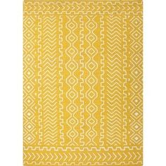 Shop for Flat Weave Tribal Gold/ Yellow Wool Rug (8' x 10'). Get free shipping at Overstock.com - Your Online Home Decor Outlet Store! Get 5% in rewards with Club O!