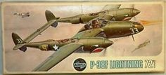 AVIATION : P-38F LIGHTNING 1:72 SCALE AIRFIX MODEL KIT