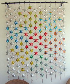 Wow! This is made of tiny tin can stars - more of a project for the parents :)