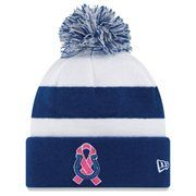 New Era Indianapolis Colts Breast Cancer Awareness On-Field Sport Knit Beanie - Royal Blue/White