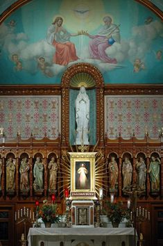 The National Shrine of The Divine Mercy, designed and built by an Italian immigrant named Antonio Guerrieri, has proven to be much-needed sanctuary for the many thousands of pilgrims who visit annually.