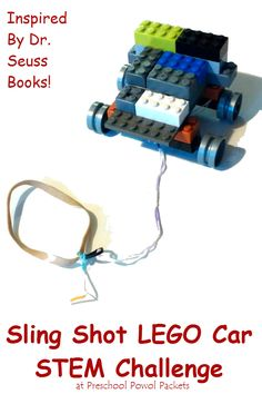 Fun! Build a rubber band powered sling shot LEGO car! Kids science, STEM, or just a great indoor activity! Perfect for elementary school, preschool, and kindergarten students!