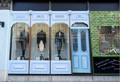 Inventive window display at Harvey Nichols for the Queen's Diamond Jubilee June 2012