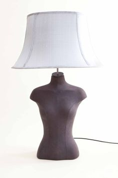 """Look...I made one like this years ago..Maybe though it is time for a new shade...hmm old french burlap, maybe a grain sack...definitely my lamp needs a new """"hat""""!"""