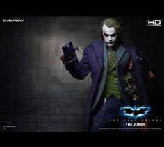 Enterbay Joker - The Dark Knight HD Masterpiece Action Figure. Barbie Halloween, Costume Halloween, Butterfly Birthday Cards, Victorian Valentines, Batman The Dark Knight, Movie Collection, Family Day, Book Show, Making Memories