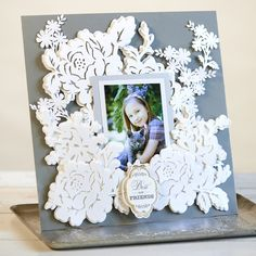 Anna Griffin Garden Blossoms Scrapbook Layout. Click here to make it now with the Cricut Explore:
