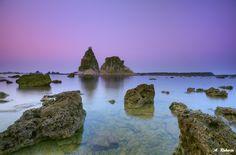 Sunrise at Sawarna Baeach, Bayah , Banten Province, Indonesia.