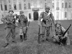 German Soldiers Normandie 44 Otto, Klaus, Karl, Hans WW2 Villa Arconati