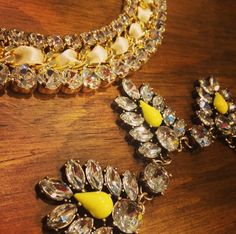 Shine bright like a diamond <3 Check out outragefashion.com to find our Panetierre and Virginia #necklaces and other #beautiful #jewelry and #accessories.  #fashion #trends #sparkle #shine #glitter #yellow #gold #white #silver #summer #sun #july #style