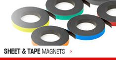 From neodymium rare earth magnets to flexible magnetic sheets & tapes, browse the UK's largest range of magnets.