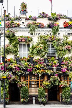 The Churchill Arms pub in Kensington, London is famous for its flower-covered facade. The best pubs in London come in all shapes and styles, and this guide will help you find the right one for your tastes and preferences. Best London Pubs, Best Pubs, London Places, Famous Pubs In London, Buckingham Palace, Churchill, The Places Youll Go, Places To Go, London Blog