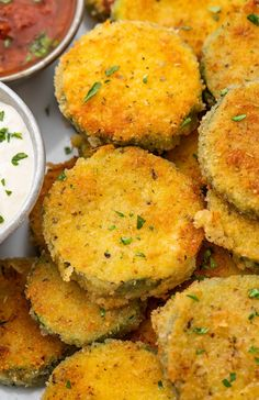 Healthy Appetizers, Appetizer Recipes, Healthy Snacks, Snack Recipes, Healthy Eats, Fried Zucchini Recipes, Zucchini Fries, Fried Zuccini, Summer Squash Recipes