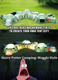 Camping, Potter style