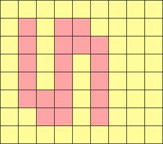 アルファベット小文字sの図案(ミサンガ用)