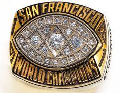 SB 16 Ring - 1/24/1982 @ Pontiac Silverdome, Pontiac, Michigan.  SF 26 CIN 21.  MVP - Joe Montana, QB SF.