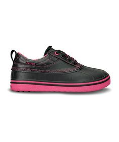 3367cf49f2aff Take a look at this Black  amp  Hot Pink AllCast Duck Golf Shoe - Women