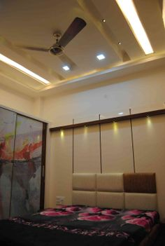 Master bedroom with posh interiors design by living edge for Room design mahim
