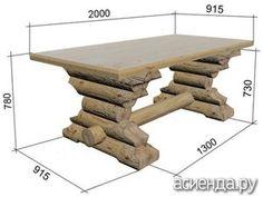Faça uma tabela de toras para pérgulas - móveis de jardim, mobiliário com suas próprias mãos, móveis de jardim de madeira, mesa de jardim, mobiliário de jardim, mesa com as mãos, oficina de artesanato seus braços