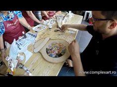 Confectionare ceas cu Decoupage si Umbre Pittorico - 05.07.2014 - YouTube
