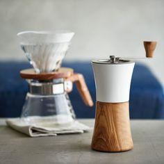 セラミックコーヒーミル・ウッド - 耐熱ガラスのHARIO
