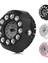 Mujer+Reloj+de+Moda+Simulado+Diamante+Reloj+Japonés+Cuarzo+La+imitación+de+diamante+Plastic+Banda+Negro+Blanco+Rosa+Blanco+Negro+Rosa+–+EUR+€+7.67
